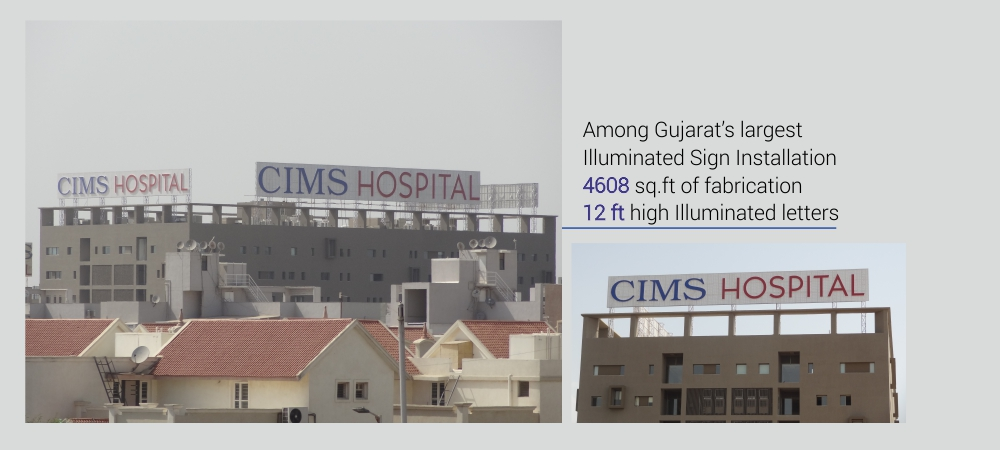CIMS Hospital Sign Board