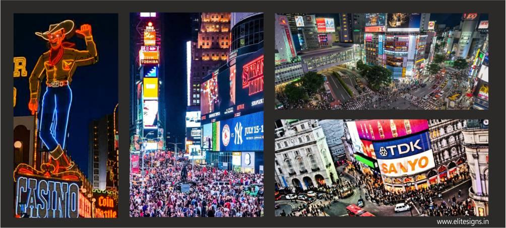 Signboards Ahmadabad, Signboards New York, Signboards Las Vegas, Signboards London, Signboards Tokyo