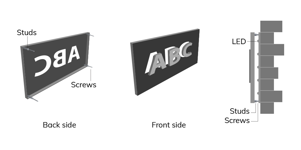 BackLit - Metal Cut with Raiser
