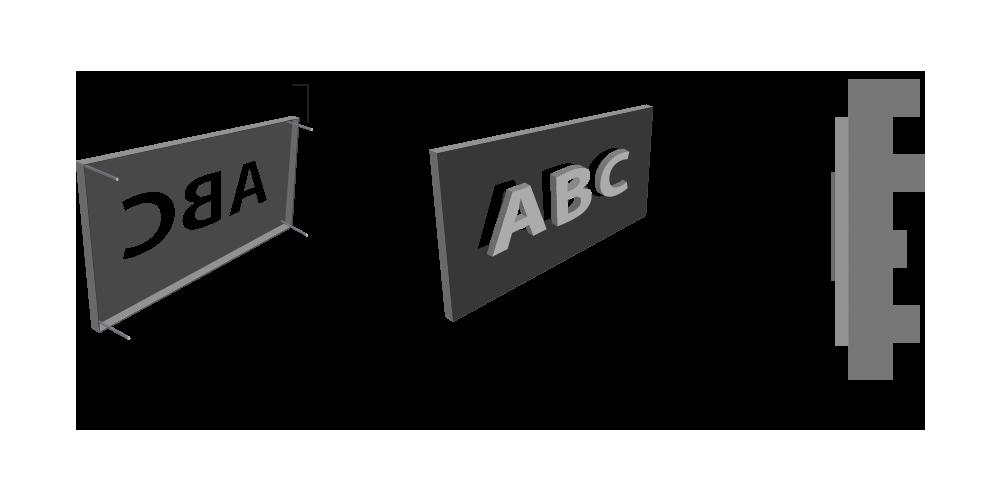 BackLit - Metal Cut without Raiser